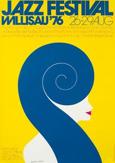 Troxler, Niklaus poster: Jazz Festival - Willisau `76 (Hand Signed)