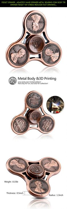 Fidget Spinner , Aemotoy Hand Spinner Metal Bearing Coin Body Tri Spinner Fidget Toy Stress Reducer Fast Spinning ADD ADHD EDC Focus Anxiety Relief Toys - Rose Gold #tech #drone #spinner #racing #body #plans #fpv #kit #technology #shopping #camera #products #metal #gadgets #parts