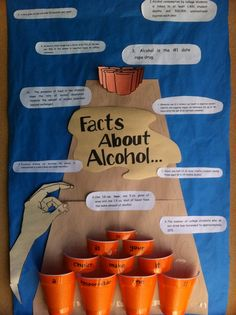bulletin board about alcohol that could be educational to your residents
