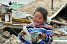 Little reader in Tibet