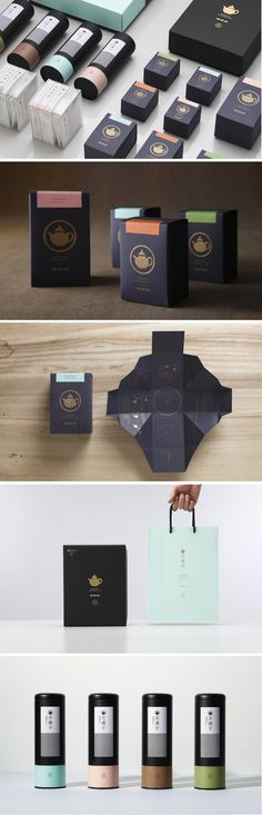 The use of color here creates a universal look for the branding of these tea boxes. Packaging Box, Luxury Packaging, Paper Packaging, Coffee Packaging, Brand Packaging, Tee Design, Design Logo, Label Design, Brand Design