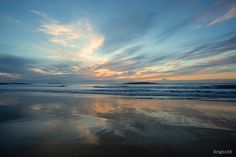 Beach Reflections Australian Beach Photos Fine Art by Beach Images, Beach Pictures, Cool Pictures, Water Photography, Fine Art Photography, Beautiful Sky, Beautiful Landscapes, Landscape Art, Landscape Paintings