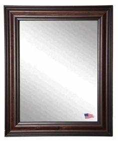 Very popular Missouri Walnut Wall Mirror 31.5''W x 37.5''H, V0030ML by Rayne Mirrors by Rayne Mirrors   BizChair.com