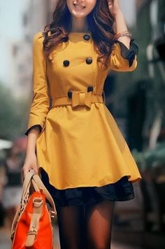 Cute mini dress with waist bow belt