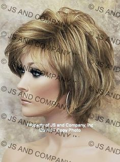 Heavily Layered Short Shag Wig I love this! I think with my hair, if cut like this, would fall into place great!