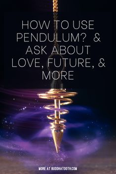Throughout history, pendulums have been used to locate water, gold, gems, as well as other valuable objects. Doctors would use t to detect diseases and weak areas of the body.  And healers are going to balance one's energy and life forces.  Nowadays, pendulums are gaining more popularity as a way to find a little more certainty in our uncertain world. And tap into the subconscious in the search for guidance. Learn everything you might need to know in my guide. Spiritual Meditation, Spiritual Gifts, Spiritual Awakening, Psychic Predictions, Modern Day Witch, Witchcraft, Magick, Palmistry, Oracle Cards