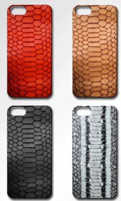 Embossed python leather iPhone cases #valenzhandmade