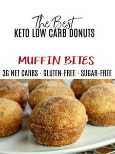 Tasty Keto Donuts Muffins Bites We used a muffin tin that makes 24 mini muffins and slightly lowered Keto Foods, Keto Diet Drinks, Keto Approved Foods, Keto Snacks, Keto Recipes, Keto Desserts, Ketogenic Meals, Muffin Recipes, Healthy Snacks