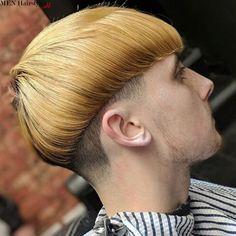 The bowl haircut is eccentric, but the end result is totally worth it! The Bowl Cut always finds its way into the latest trends! Bowl Haircuts, Hairstyles Haircuts, Haircuts For Men, Hair Art, Men's Hair, Men Hair Color, High And Tight, Mens Hair Trends, Bald Fade