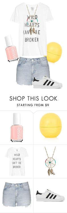 """SUMMER!!!!!!!!"" by cutiecat14 ❤ liked on Polyvore featuring Essie, Topshop, Zoe Karssen, Aurélie Bidermann, adidas, women's clothing, women's fashion, women, female and woman"