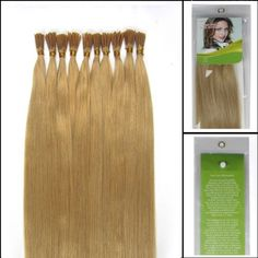 Grammy 16 Inch 100 Strands Straight Keratin Stick I Tip Remy Human Hair Extensions