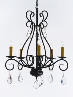 Where to find chandelier 5 light wrought iron in charlotte game of this beautiful chandelier is trimmed with empress crystal tm wrought iron chandelier the elaborate detail and beautiful designs on this chandelier make mozeypictures Images
