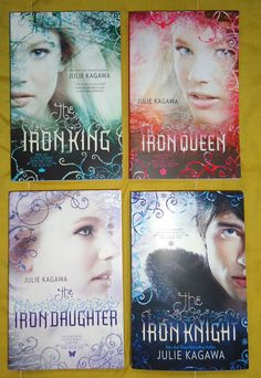 Meus livros da série The Iron Fey - The Iron King, Iron Daughter, Iron Queen e Iron Knight!