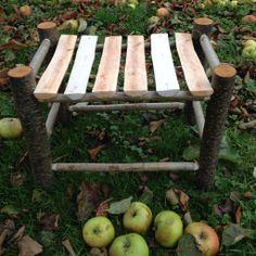 Greenwood stool.  Alder, hazel & ash
