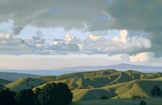 david ligare - landscape with a red pony