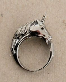 Unicorn ring. I love this, but somehow I feel like I would be poking myself in the eye all the damn time.