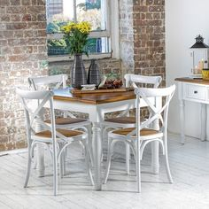 French Cross Dining Chair White - Products - 1825 interiors