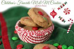Children's Favorite Gluten-Free M&M Cookies  #gfchristmascookies