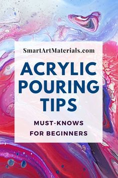 Acrylic Pour Painting Tips and Tricks You Need to Know Smart Art Materials Acrylic Pour Painting Acrylic acrylic pour painting for beginners art Materials Painting Pour Smart Tips Tricks Flow Painting, Marble Painting, Acrylic Painting Lessons, Acrylic Painting Tutorials, Acrylic Painting Canvas, Diy Painting, Acrylic Art, Beginner Painting, Canvas Paintings