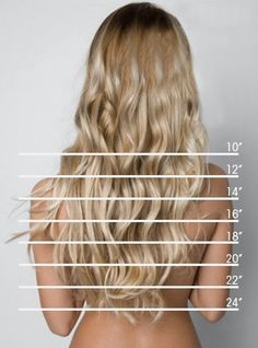 hair length chart - great for when you just cant describe where you want your hair to fall.