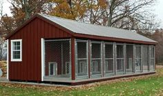 14 x 32 Amish Built Large 8 Run Dog Kennel with Feed Room Amish Dog Kennels | Pinecraft.com • Kennel Kits, Assembled Kennels, Heated Kennels & More