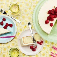 Vanilla-Buttermilk Cake With Raspberries and Orange Cream-Cheese Frosting