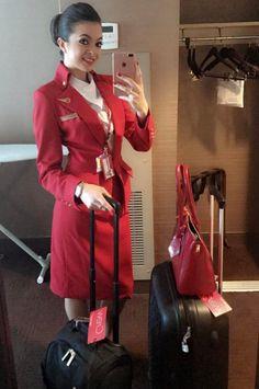 【イギリス】ヴァージン・アトランティック航空 客室乗務員 / Virgin Atlantic Airways cabin crew【UK】 Grace Perry, Red Leather, Leather Jacket, Virgin Atlantic, Amy, Photo And Video, Instagram, Fashion, Studded Leather Jacket