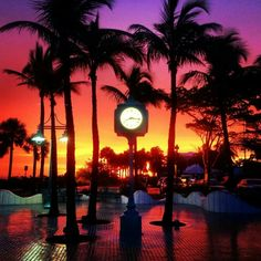 Times Square sunset/  Fort Myers Beach, FL
