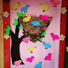 bird bulletin board | Crafts and Worksheets for Preschool,Toddler and Kindergarten