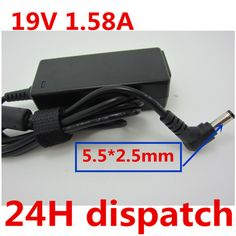 HSW 19V 1.58A 5.5 * 2.5 MM Laptop AC Power Adapter Charger For TOSHIBA NB200 Notebook Mini Notebook NB205 free shipping