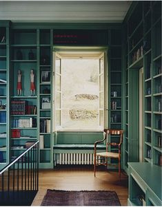 like the window seat idea for the reading room