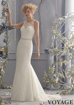 Voyage by Mori Lee 6784 Lace Wedding Dress