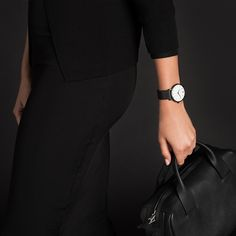 Each timepiece by Larsson & Jennings is named in Swedish, and features hour increments marked by Roman numerals. The emphasis is on premium materials, and the in-house design team work with Swiss artisans to ensure precision and quality. #watches #design