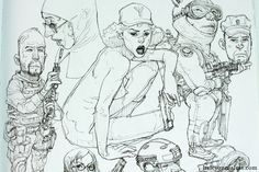 Kim Jung-Gi 2011 Sketch Collection Art Book Review Junggi Kim, Kim Jung, Sketchbook Pages, Manga Artist, Detailed Drawings, Book Review, Caricature, Drawing Sketches, Book Art