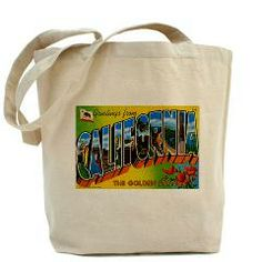 California CA Tote Bag #California Vintage #Gifts #Bags