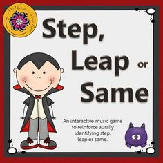 Reinforcing melodic direction: steps, leaps or staying the same is now fun! Your elementary music students will love listening and then selecting the correct answer in this interactive game. Excellent resource for the Orff and Kodaly classroom.