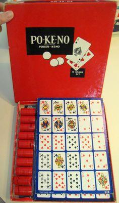 1960s Po-Ke-NoPo-Ke-No  Game.  Combines Poker & Keno