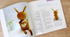 Felt Bunny Pal.  FREE pdf pattern download...and part of the Heart-FELT Holidays book giveaway