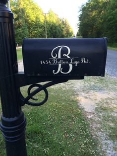Split letter Vinyl Mailbox Decal Door Decal by TheGreenGiftCompany, $9.00