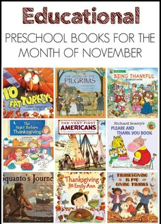 Educational and meaningful preschool books perfect for the month of November!