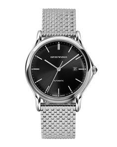 Automatic Watch with Bracelet, Black