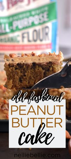 Old-fashioned peanut butter cake is crazy easy! Serve it up with coffee buttercream and this sheet pan cake is sooo good! Cake Boss Recipes, Sheet Cake Recipes, Homemade Cake Recipes, Decadent Chocolate, Chocolate Peanut Butter, Chocolate Cakes, Peanutbutter Cake Recipe, Mayonaise Cake, Coffee Buttercream