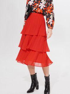 Fustă midi plisată, MOHITO, ZI830-33X Pleated Midi Skirt, High Waisted Skirt, Lady, Skirts, How To Wear, Fashion, Moda, High Waist Skirt, Skirt