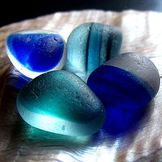 blue sea glass