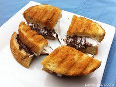 Nutella S'mores Panini...get the recipe at paninihappy.com