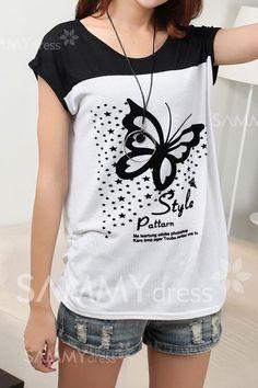 blusa con mariposa .