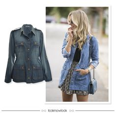 Parka Jeans #moda #look #outfit #looknowlook
