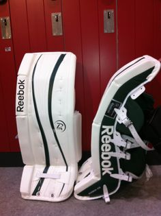 Reebok Premier 4 custom goalie pads made for a customer.