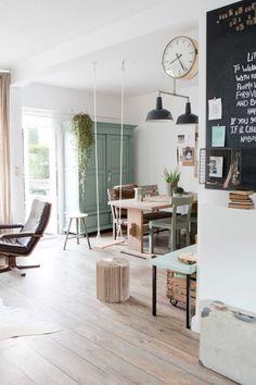 Krijtbord en lampen :) 1-woonkamer-wit-krijtbord