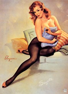 """Gil Elvgren - """"The Norman Rockwell of Cheesecake!"""" Vintage Pinup